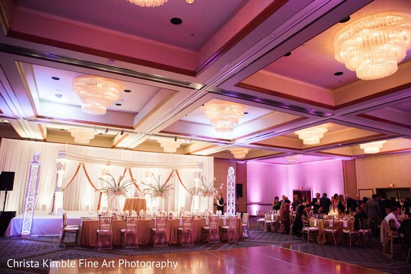 Indian wedding reception lightning. in Columbus, Ohio Fusion Wedding by Christa Kimble Fine Art Photography