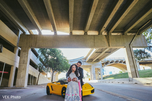 Indian couple outdoor photography before wedding reception in Dallas, TX Pakistani Wedding by VEK Photography