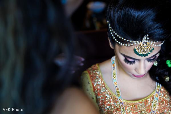 indian bride,bridal tikka,indian bride makeup