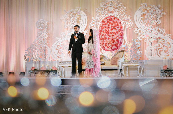 Lovely indian couple at wedding reception in Dallas, TX Pakistani Wedding by VEK Photography