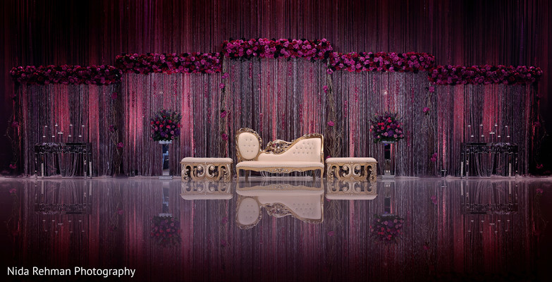 Magnificent indian wedding stage. in Dallas, TX Pakistani Wedding by Nida Rehman Photography
