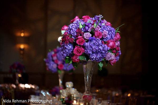 Dreamy floral centerpiece. in Dallas, TX Pakistani Wedding by Nida Rehman Photography