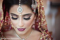 Indian bride final makeup look.