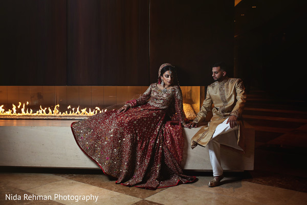 Elegant pakistani bride and groom photo session. in Dallas, TX Pakistani Wedding by Nida Rehman Photography