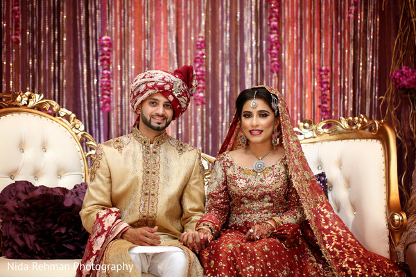 Pakistani fairy tale couple. in Dallas, TX Pakistani Wedding by Nida Rehman Photography