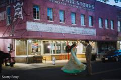 indian bride,indian fusion wedding reception,indian wedding portrait