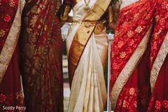 indian bride,indian bridesmaids,indian bridal sari,ceremony fashion