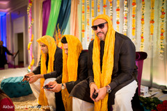 indian groomsmen,yellow dupatta