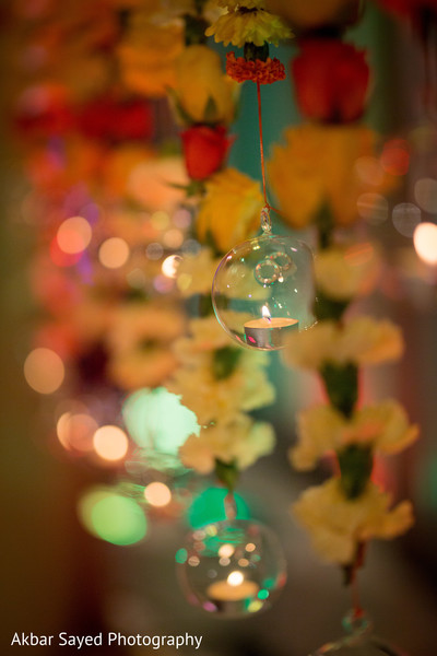 Hanging candles decor