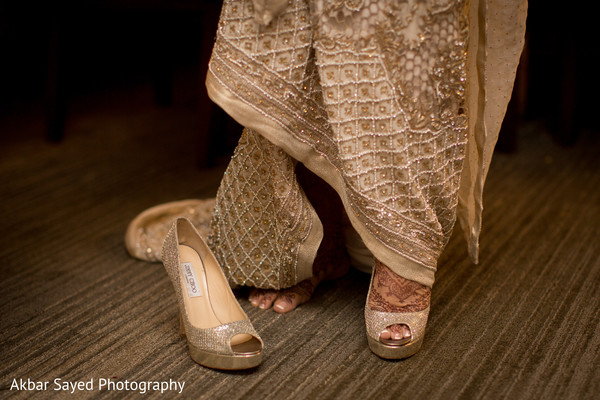 Lovely Jimmy Choo bridal heels in Falls Church, VA Indian Wedding by Akbar Sayed Photography