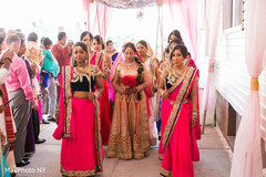 indian bride,indian bridesmaids,indian wedding ceremony