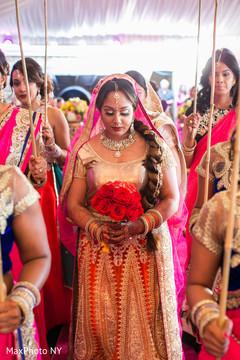 indian bride,indian bridesmaids,indian wedding ceremony