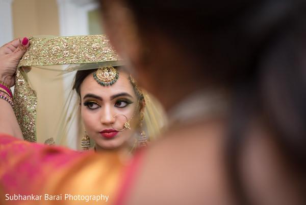 indian bride,indian bride hair and makeup,dupatta