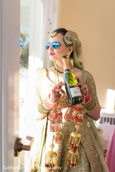 Modern indian bride.