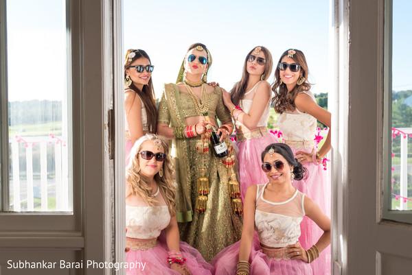indian bride,indian bridesmaids,indian bridesmaids' fashion