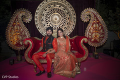 indian sangeet,indian pre-wedding celebrations,sangeet decoration,indian bride and groom