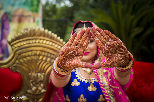 Indian bridal henna.