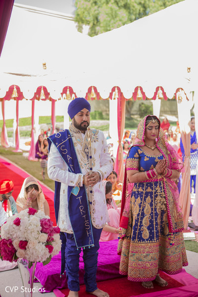 Maharani and Maharaja sikh wedding ceremony.