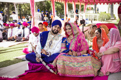 Sikh couple looking like royals.