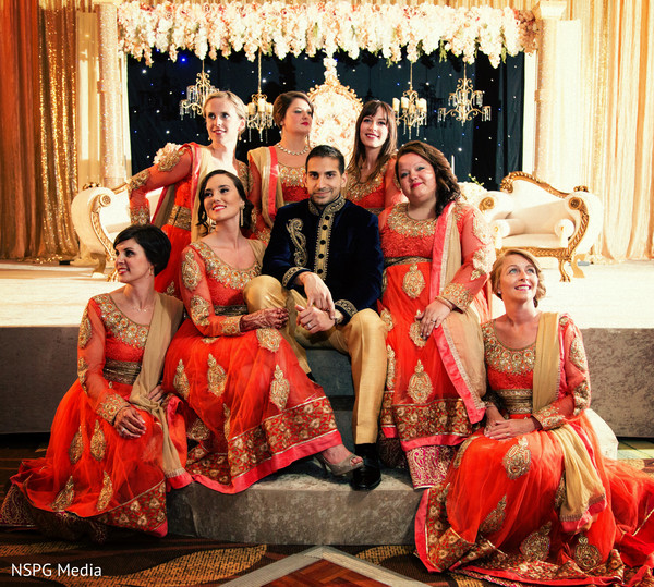 indian bridesmaids,indian groom fashion
