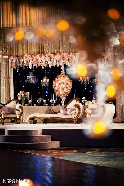 Dreamy wedding stage