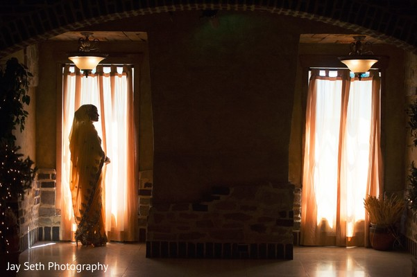 Indian bride silhouette photography. in Westchester, New York Fusion Indian Wedding by Jay Seth Photography