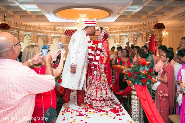 Sweet newlyweds. in Westchester, New York Fusion Indian Wedding by Jay Seth Photography