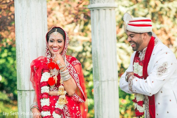 Candid bride and groom photography. in Westchester, New York Fusion Indian Wedding by Jay Seth Photography