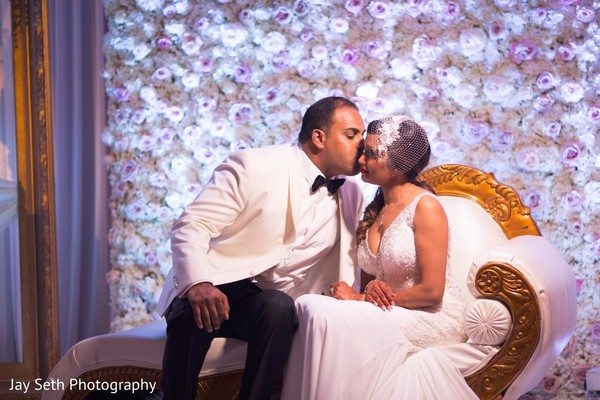 Heartfelt indian couple shot. in Westchester, New York Fusion Indian Wedding by Jay Seth Photography