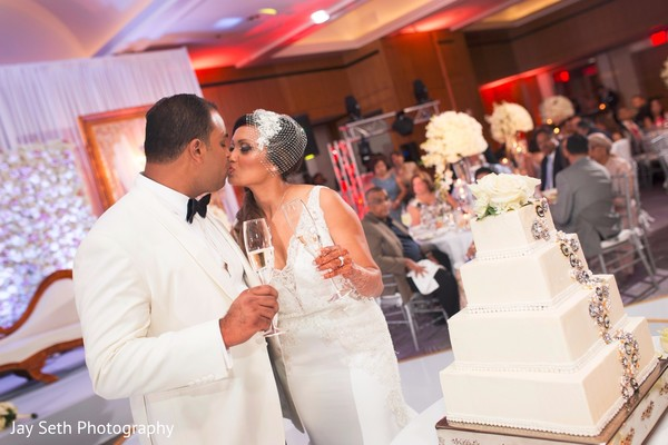 Luxurious indian wedding reception. in Westchester, New York Fusion Indian Wedding by Jay Seth Photography