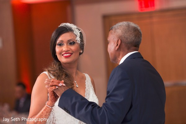 Father and daughter wedding dance. in Westchester, New York Fusion Indian Wedding by Jay Seth Photography