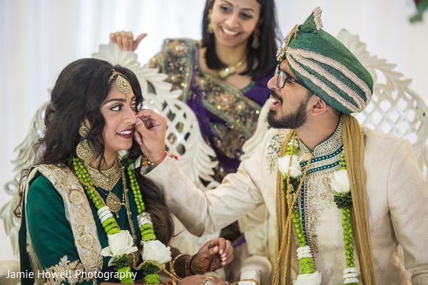 bridal tikka,indian bride makeup,indian groom fashion