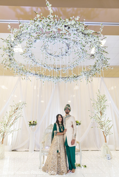 flower mandap,outdoor indian wedding decor,indian bride and groom