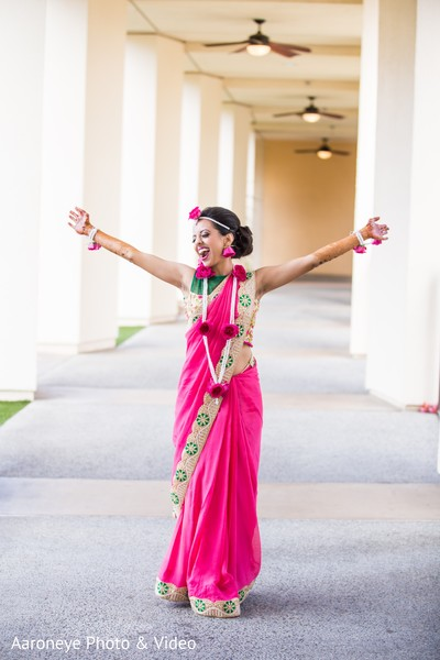 Joyful maharani in San Diego, CA Indian Wedding by Aaroneye Photography
