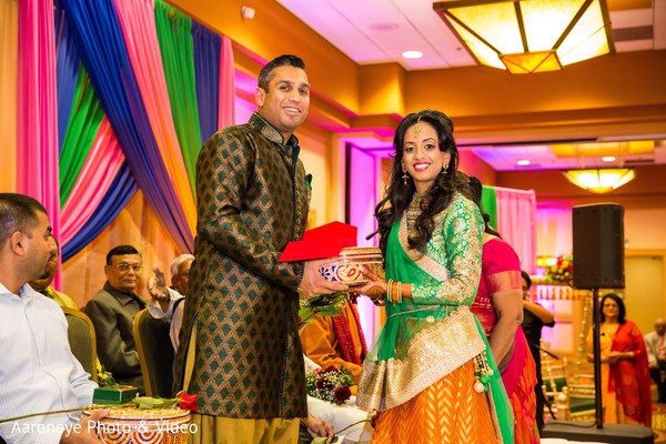 Indian couple photography at garba ceremony in San Diego, CA Indian Wedding by Aaroneye Photography