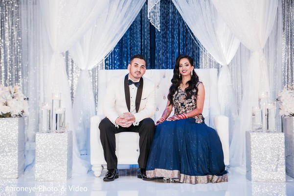 Lovely indian couple photography at wedding reception in San Diego, CA Indian Wedding by Aaroneye Photography