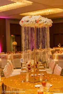 indian wedding reception,indian wedding planning and design,indian wedding reception floral and decor,table centerpieces