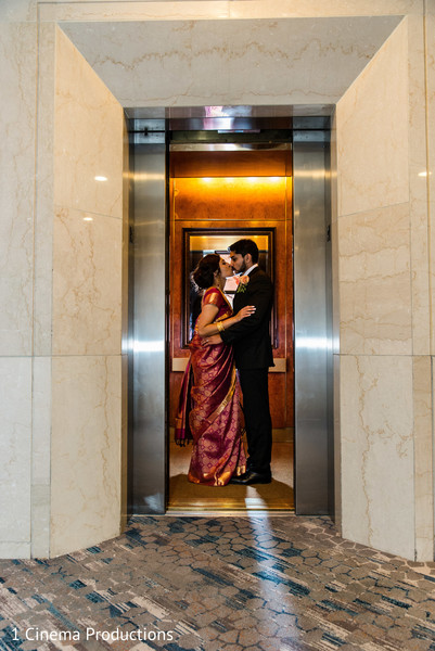 Intimate bride and groom photo session.