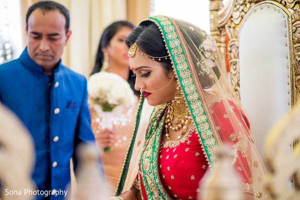 Indian bride at the wedding ceremony.