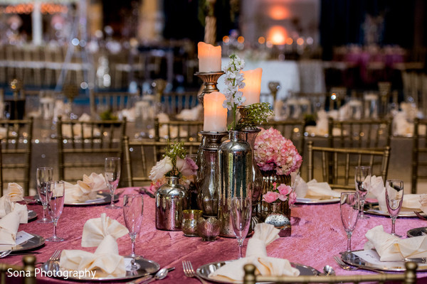 indian wedding floral and decor,indian wedding reception,indian wedding planning and design,table centerpiece