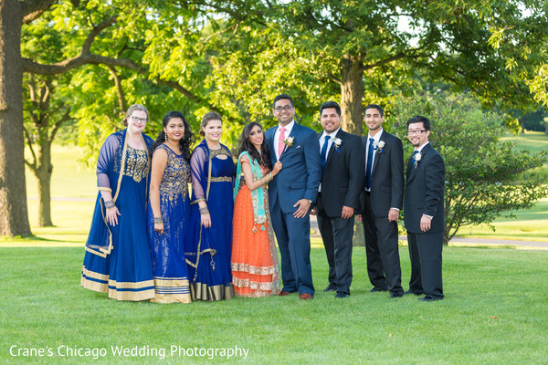 indian bridal party,indian fusion wedding reception