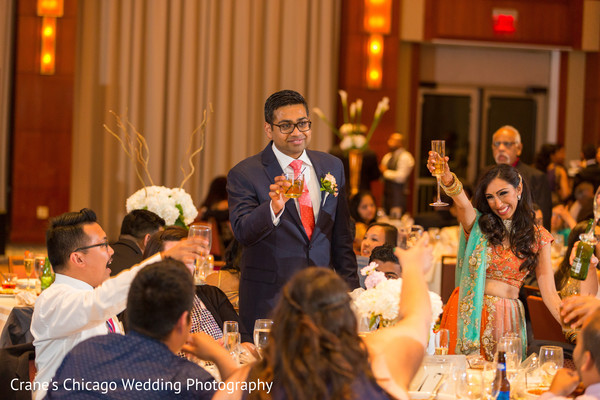 wedding toast,indian wedding reception,indian fusion wedding reception