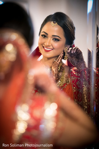 indian bridal hair and makeup,indian bride getting ready