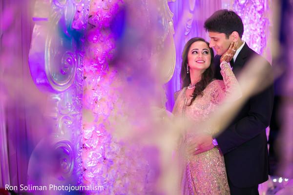indian fusion wedding reception,indian wedding couple,indian wedding reception