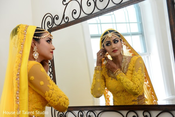 ceremony fashion,indian bride,indian bridal hair and makeup,indian bride getting ready