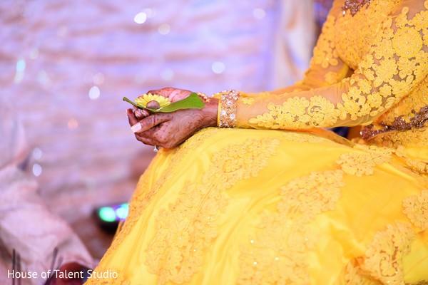 Bride's pre-wedding ritual capture.