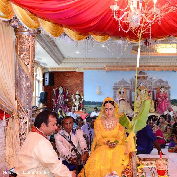 Lovely indian bride praying.