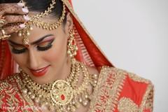 Bride's close up portrait.