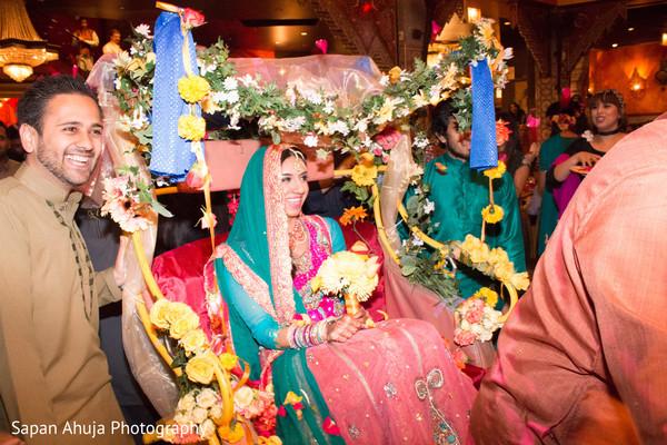 indian weddings,indian sangeet,pakistani bride,rickshaw