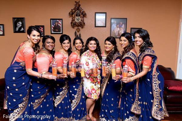 bridal paryt,indian sari,indian bride getting ready,indian bride